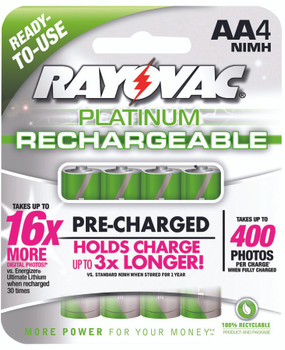 NiMH Rechargeable Batteries (AA): PL715-4
