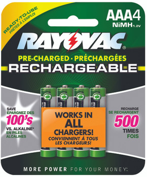 NiMH Pre-Charged Rechargeable Batteries (AAA): LD724-4OP