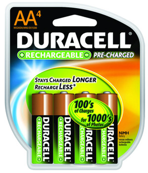 Duracell Pre-Charged Rechargeable Batteries: Choose Size