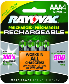 Rayovac NiMH Rechargeable Batteries: Choose Size