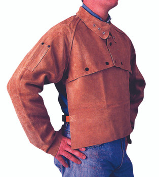 Cape Sleeves (Golden Brown Leather): Q-2-S