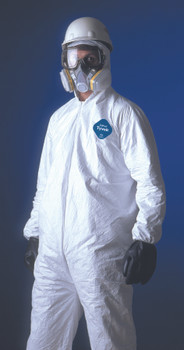 Tyvek Coveralls (Attached Hood): TY127S-XL