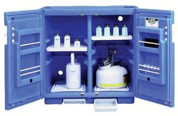 Justrite Blue Polyetheylene Storage Cabinets (30 L): 24160