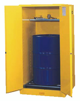 Yellow Vertical Drum Safety Cabinets (1 Drum Unit, Self-Closing): 896220