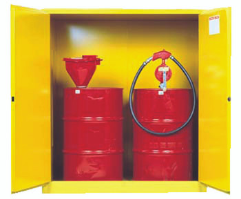 Yellow Vertical Drum Safety Cabinets (2 Drum Unit): 899100