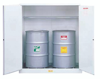 White Drum Cabinets for Flammable Waste (2 Drum Unit): 8991053
