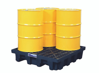 Justrite Gator Spill Control Pallets (4 Drum Unit): 28714