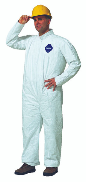 Tyvek Coveralls (Collar Style, No Elastic): TY120S-L