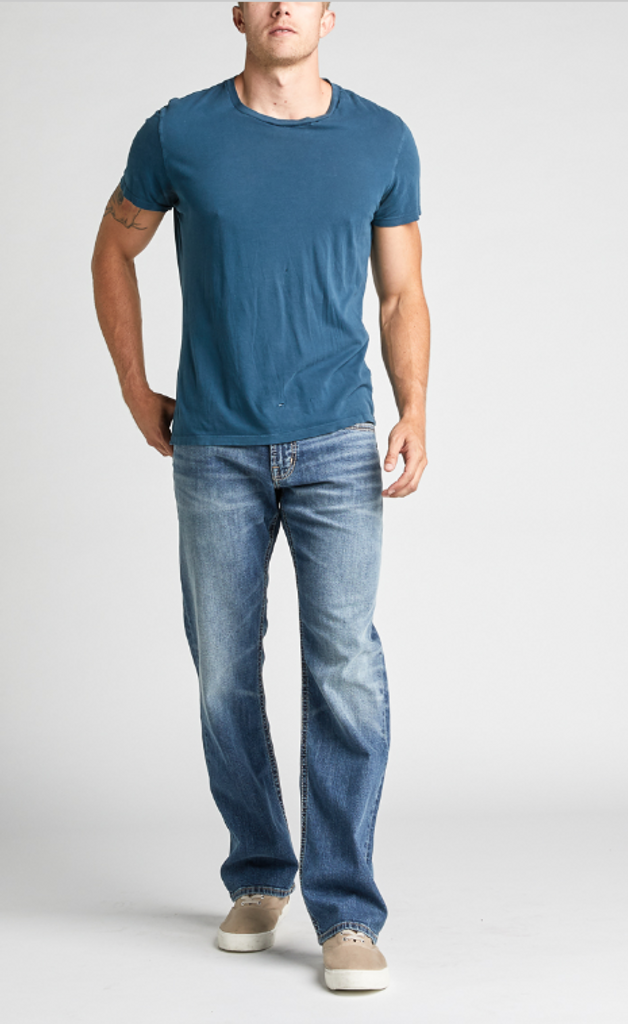 496e59ef Men's Zac Relaxed Fit Straight Leg Jeans by SIlver Jeans Co. front Click  here to enlarge