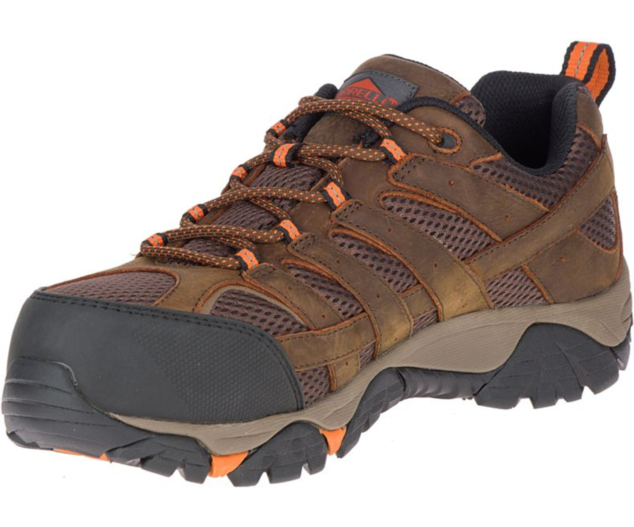 Men's Moab Vertex Vent Comp Toe Work Shoe Wide Width by Merrell