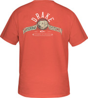Drake Yellow Lab Waterfowl Systems Short-Sleeve Tee-Shirt salmon