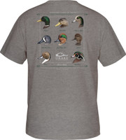 Drake Puddle Duck Collection Short-Sleeve Tee-Shirt heather back