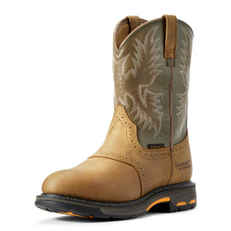 Ariat Men's WorkHog Waterproof Work Boot Aged Bark