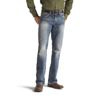 Ariat Men's M5 Slim Gambler Stackable Straight Leg Jean
