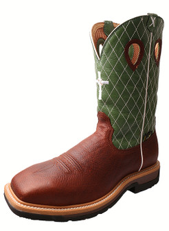 Twisted X Men's Cowboy Work Boot with Met Guard Steel Toe