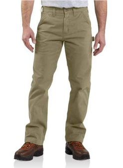 Carhartt Washed Twill Relaxed Fit Work Pant in Dark Khaki