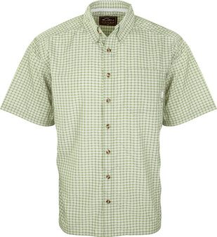 Drake Men's FeatherLite Check Short-Sleeve Shirt