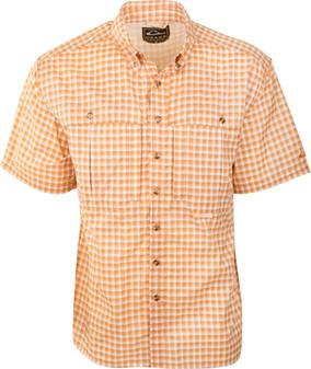 Drake Men's FeatherLite Plaid Wingshooter's Short-Sleeve Shirt