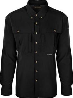 Drake Flyweight Wingshooters Long-Sleeve Shirt black