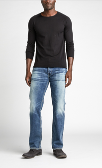 Men's Allan Classic Fit Straight Leg Jeans by SIlver Jeans Co.