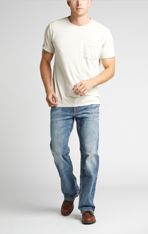 Men's Craig Easy Fit Bootcut Jeans by Silver Jeans Co. - Medium Wash