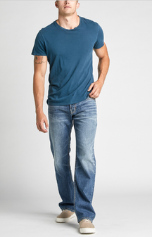 Men's Zac Relaxed Fit Straight Leg Jeans by SIlver Jeans Co.