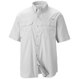 Columbia Men's Blood & Guts III Short-Sleeve Woven Shirt white front