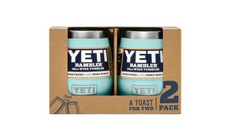 Yeti Rambler 10 Wine Tumbler 2 Pack - Seafoam front