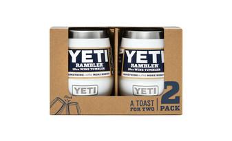 Yeti Rambler 10 Wine Tumbler 2 Pack - White front