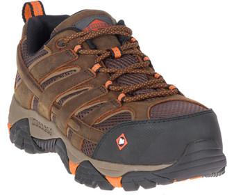 Men's Moab Vertex Vent Comp Toe Work Shoe Wide Width by Merrell front side