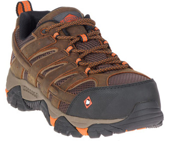 Men's Moab Vertex Vent Comp Toe Work Shoe Wide Width by Merrell front side