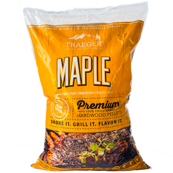 Traeger Maple Premiumn Hardwood Pellets