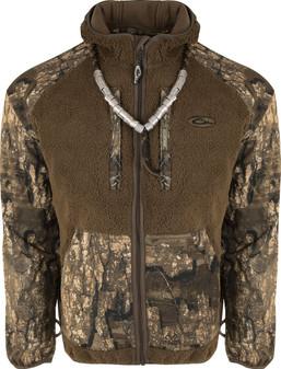 Drake MST Sherpa Fleece Hybrid w/ Hood Full Zip Jacket