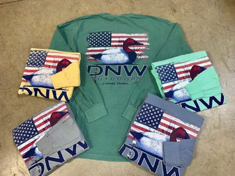 DNW USA Flag Red Headed Decoy Long Sleeve Tee