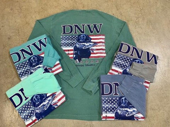 DNW USA Flag Retreiver Long Sleeve Tee