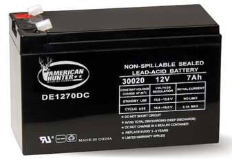 Rechargeable Battery 30020 12 Volt Lead Acid 7 mAH