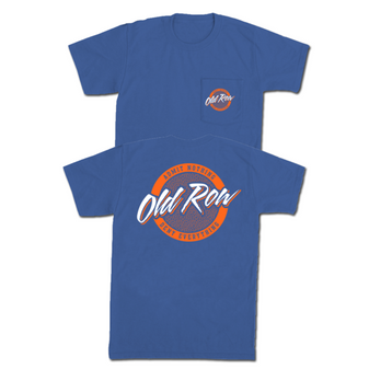 Old Row Tailgate Pocket Tee - Blue/Orange
