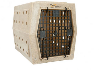 Ruff Land Single Front Door Kennel - Large - Tan
