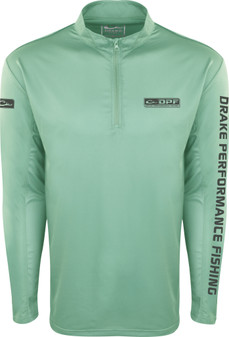 Drake Shield-4 Arched Mesh Back Quarter Zip Long Sleeve Fishing Shirt