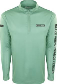 Drake Shield-4 Arched Mesh Back Quarter Zip Long Sleeve Fishing Shirt