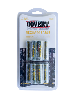 12 Pack AA NiMH Rechargeable Batteries