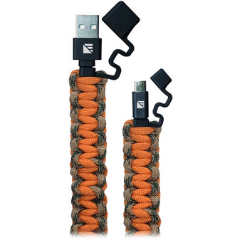 2' Lightning Paracord Charger - Realtree Camo/Orange