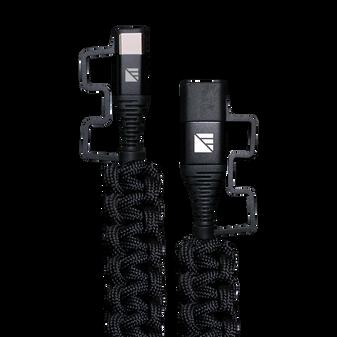 2' USB-C Paracord Charger - Black