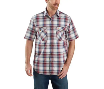 Rugged Flex Relaxed Fit Lightweight Plaid S/S