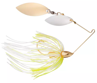 1/2oz Screamin Eagle Double Willow Spinnerbait - Hot White Chart