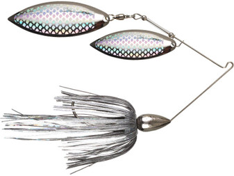 1/2oz Nickel Double Willow Spinnerbait
