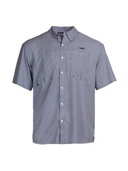 Intracoastal S/S Fishing Shirt - Navy Check