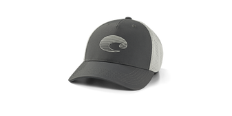 Gradient Logo Performance Trucker Hat - Gray