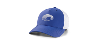 Gradient Logo Performance Trucker Hat - Royal Blue