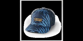 Coco Palms Trucker Hat - Blue